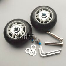 """Luggage Suitcase Replacement Wheels OD 76 (2.99"""") ID 6 W 28 Axles 35 Repair Set"""