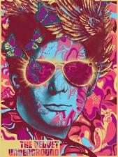 The Velvet Underground Lou Reed Gold Foil Poster Screen Print Num #/200 + COA