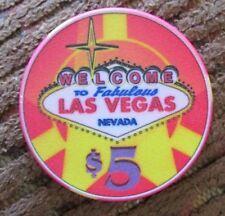 New listing Las Vegas Nevada $5 Centennial Celebration Casino Chip