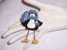 PENGUIN HOLIDAY CHRISTMAS  FASHION SCARF PIN-BROOCH - COAT - LAPEL - HAT