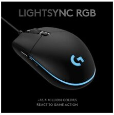 Logitech G Pro Hero Wired Optical Gaming Mouse with Lightsync RGB Lighting -...