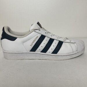 adidas Superstar Originals White Leather Blue Gold Size 8 Men's Shoes Classic