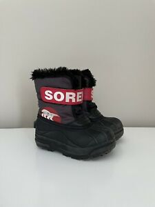 Kids Sorel Snow Commander Winter Boots Sz 9  Unisex