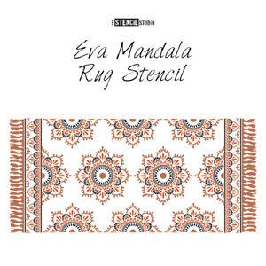 Eva Mandala Patio Rug Stencil - Get cosy outside - Give patios a makeover! 10926
