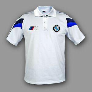 BMW M POWER Polo T-shirt T shirt chemise Homme Broderie Fait en EUROPE XS-6XL