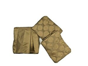 VCNY Queen Luxury Bedding Set 3 Pc Bedskirt Pillowcases Shams Brown Faux Silk