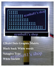 FSTN 12864 128X64 Graphic COG Negative Type LCD Display Module SPI White Backlit