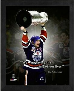 """Mark Messier Edmonton Oilers NHL Pro Quotes Photo (Size: 9"""" x 11"""") Framed"""
