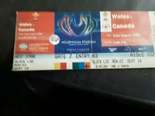 WALES V CANADA RUGBY UNION TICKET WORLD CUP 1999