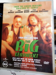 THE BIG LEBOWSKI DVD - AS NEW - WATCHED ONCE - GREAT COEN BROTHERS MOVIE