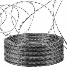 NATO Razor Wire Helical Barbed Wire Roll Galvanized Steel Coil Fencing 3 Sizes