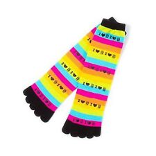 1D One Direction Toe Socks Rainbow Striped I Heart Love 1D Shoe Size 4-10 NWT