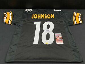 DIONTAE JOHNSON PITTSBURGH STEELERS SIGNED CUSTOM JERSEY JSA WITNESS COA + HOLO
