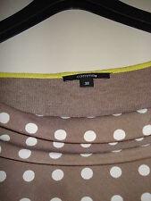 COMMA - chicer Pulli/Shirt - grau-braun, grün, weiß gepunktet - Gr. 38
