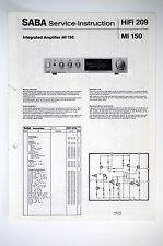 Saba mi 150 original Amplifier Service-Instruction/Istruzioni/schema elettrico o52