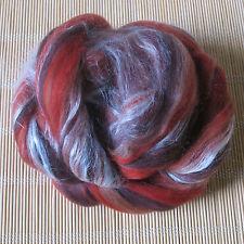 100g Dyed Merino Wool & Tussah Silk Blend - Artemis - Felt Making, Spinning