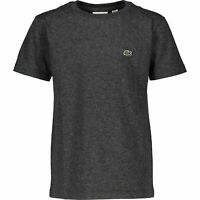 LACOSTE Boys' Kids Cotton T-Shirt, Charcoal, size 8 years / 128cm