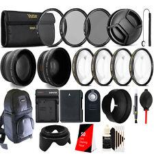 52mm Top Accessory Lens Kit + Replacement EN-EL14 Battery for Nikon DSLR Camera