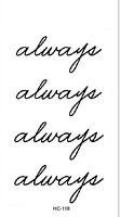 """Always"" Body Art Waterproof Love Friendship Temporary Tattoo Sticker SEAU"