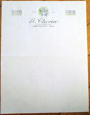 Wine/Vins Fins 1940s French Letterhead: J. Thorin - Pontanevaux, France
