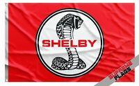 Cobra Shelby Flag Banner (3x5 ft) Motorsport Car Racing Red