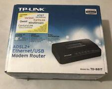 TP-LINK ADSL2+ Ethernet USB Modem Router TD-8817 NEW Sealed.
