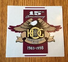Harley Davidson HOG 15th Anniversary 1998 Owners Group Official Sticker