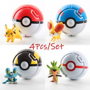 4PC Pokèmon Pokemon Pokeball Cosplay PopUp Elf Geh kämpfen Pokemon Ball Geschenk