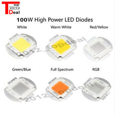 100W watts High Power SMD LED Chip Lamp Beads White Red Blue Green RGB UV Light