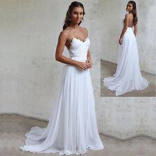 Sexy 2017 White/Ivory Beach Wedding Dress Spaghetti strap Backless Bridal Gowns