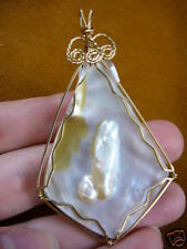 (J204-3) Mother of pearl shell blister gemstone PENDANT Jewelry