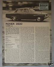 1968 Rover 3500 Original Autocar magazine Road test
