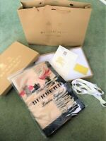 BURBERRY LONDON CLASSIC CHECK CAMEL BEIGE 100% AUTHENTIC CASHMERE SCARF WITH BOX