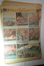PRINCE VALIANT HAROLD R FOSTER 6 (SIX) 1939  FULL SIZE SUNDAY COMIC PAGES