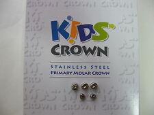 5 PCS Dental Kids Primary Molar Crown Stainless Steel Pediatric 48 Sizes choice