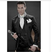 Cheap Suits Black Suits Embroidery Mens Wedding Suits Groom Tuxedo Formal Suits