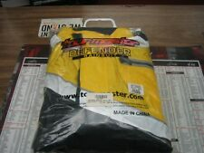 NEW Tourmaster Defender 2 piece rain suit black yellow white reflective Md