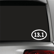 13.1 Half-Marathon Sticker Vinyl Decal Oval Running Run Race Jogging Auto car