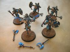 WARHAMMER 40 000 / SPACE WOLVES / LOT 5 WULFEN / PEINTURE PRO / ARMES AIMANTEES