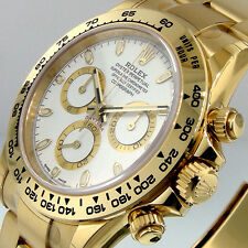 ROLEX DAYTONA 116508 YELLOW GOLD WHITE DIAL 18K OYSTER BRACELET 40 mm 116508