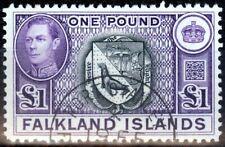 Falkland Is 1938 Black & Violet SG163 V.F.U (2)