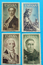 Spain Stamps - 1965 Famous Spaniards 2nd Series In Mint Condition Set Of 4