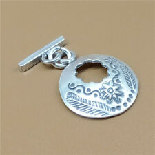 Thai Karen Hill Tribe Tribal Silver Round Toggle Clasp for Bracelet Necklace