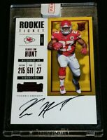 /20 KAREEM HUNT RC AUTO PANINI SEALED RED ZONE SSP 2017 Contenders Rookie Ticket