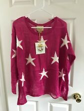 Wildfox Couture White Label Seeing Stars Lennon Sweater in Magenta NWT