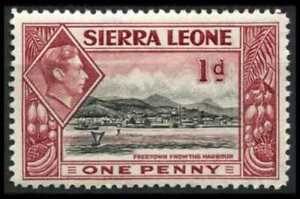 SIERRA LEONE 1938 SG189 KGVI 1d. FREETOWN FROM THE HARBOUR  -  MNH