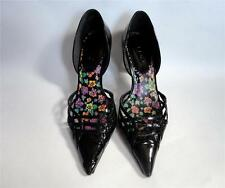 ALDO Black Patent Leather Pointed Closed Toe D'Orsey Heels Pumps Shoes Sz 37 7