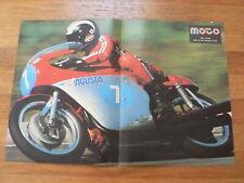 A599- POSTER PHIL READ 350 CC MV AGUSTA FOUR CYLINDER NO 7 PREMIER MOTO GP