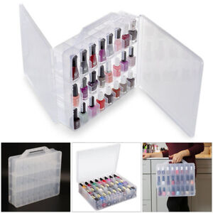 48 Lattice Chroma GEL Universal Nail Polish Case Holder Organizer Storage Clear