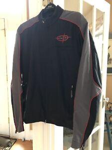 HARLEY DAVIDSON Mens Black/Gray Nylon Lined Zip-Front Jacket Size XLT